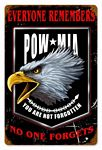 POW MIA Vintage Metal Sign