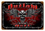 Outlaw From Hell Vintage Metal Sign