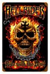 Hellrider Vintage Metal Sign