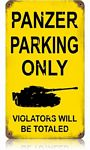 Panzer Parking Vintage Metal Sign
