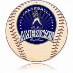 American Baseball Metal Sign