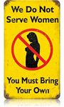 Serve Women Vintage Metal Sign