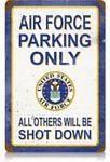Air Force Parking Vintage Metal Sign
