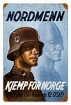 Nordmenn Vintage Metal Sign
