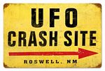 UFO Crash Vintage Metal Sign