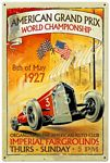 American Grand Prix Metal Sign