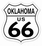 Oklahoma Route 66 Metal Sign