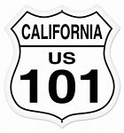 California Route 101 Metal Sign