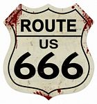 Route 666 Metal Sign