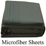 Gray Microfiber Sheets, Full Size,  Deep Pocket