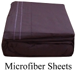 Purple Microfiber Sheets, Full Size,  Deep Pocket
