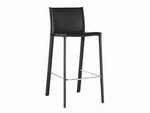 Black Leather Bar Stool Restaurant Furniture