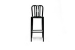 Aluminum Cafe Stool with Black Gloss Finish Restaurant Furniture