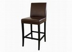 Dark Brown Full Leather Bar Stool Restaurant Furniture
