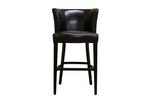 CLETO Dark Brown Leather Barstool Restaurant Furniture