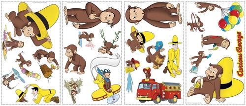 Monkey Curious George Wallpaper Border Self Adhesive Children Bedroom 15