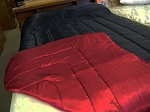Satin King and Queen Size Waterbed Reversible Comforter