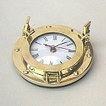 Nautical Decor, Brass Porthole Clock, 6