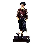 Resin Figure, Large Classic Golfer Wearing Victorian Apparel