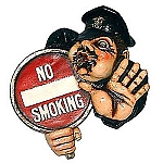 No Smoking Policeman Sign