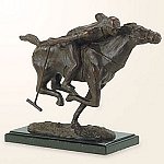 Wildlife Collection - Polo Player On Horse Sculpture
