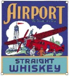 Airport Whiskey Metal Sign