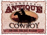 Antique Cowboy Metal Sign