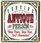 Antique Person Metal Sign