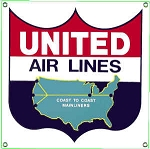 United Airlines Metal Sign