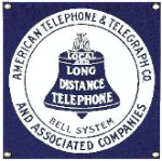 American Telephone Metal Sign