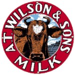 A.T. Wilson & Sons Milk Metal Sign