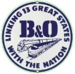 B & O Railroad Metal Sign
