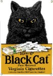 Black Cat Cigarettes Metal Sign