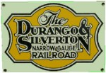 Durango & Silverton Railroad Metal Sign