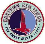 Eastern Airlines Round Metal Sign