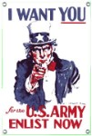Uncle Sam I Want You Metal Sign