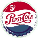 Pepsi Cap Metal Sign