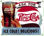 Pepsi Ice Cold Metal Sign