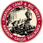 Roaring Camp Railroad Metal Sign