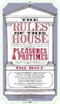 Rules Of The House Metal Sign