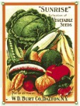 Sunrise Vegetable Seeds Metal Sign