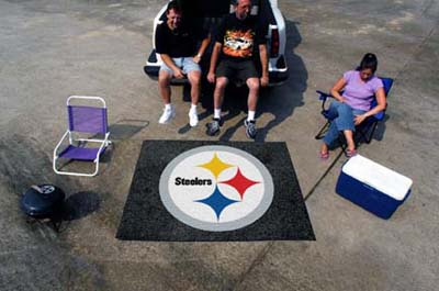 Large Pittsburgh Steelers Logo Area Rug