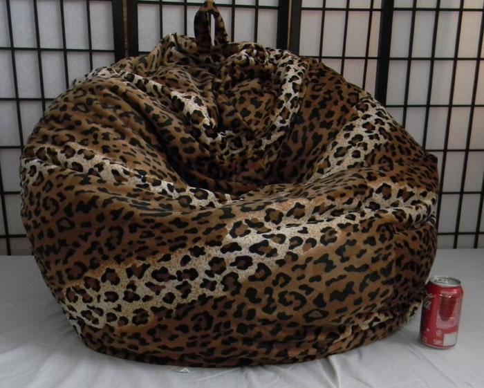 Cheetah Skin Bean Bag Chair Not Furry But Soft