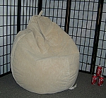 Buff Suede Microfiber Bean Bag Chair