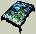4 Wolves Plush Mink Blanket
