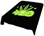 420 Leaf Plush Mink Blanket