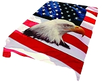 Eagle Flag Plush Mink Blanket