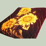 Sunflower Plush Mink Blanket