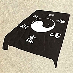 Yin Yang Asian Plush Mink Blanket