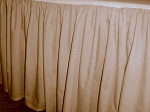 Beige Tan Dustruffle Bedskirt Full/Double Size